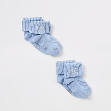Blue RI embroidered socks 2 pack