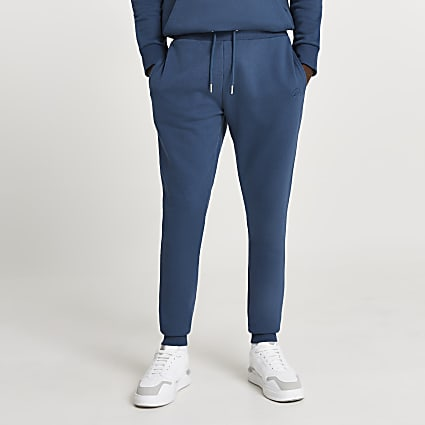 Blue RI muscle fit joggers