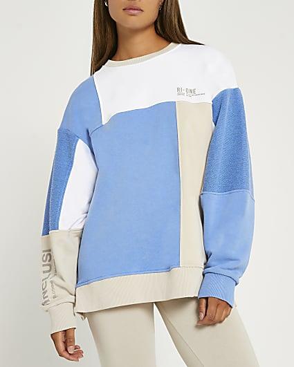 Blue RI One crew neck sweatshirt