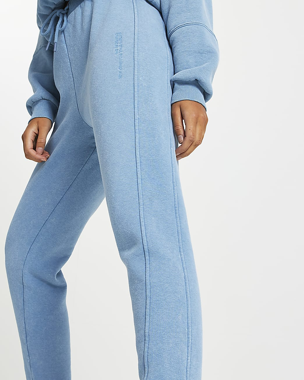 Blue RI ONE washed joggers