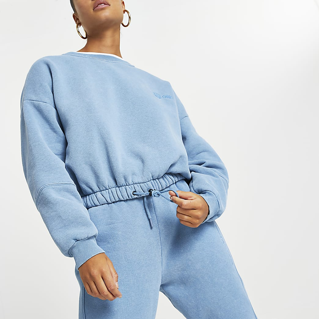 Blue RI ONE washed sweatshirt