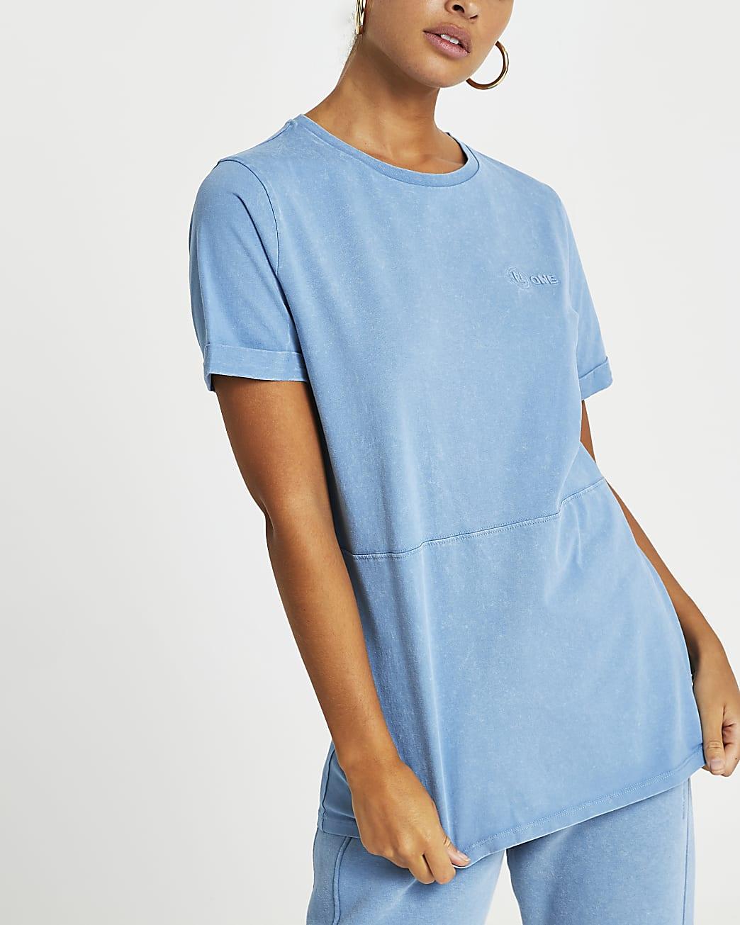 Blue RI ONE washed t-shirt