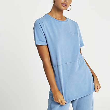 Blue RI ONE washed t-shirt