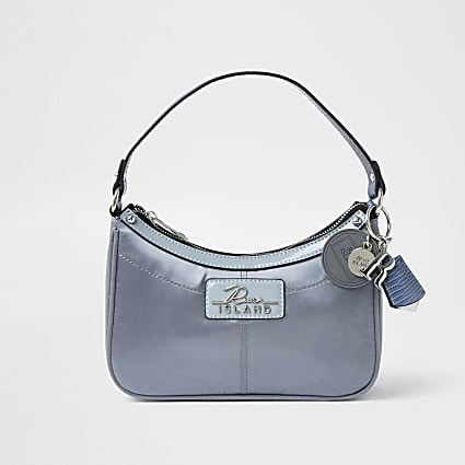 Blue RI scoop shoulder bag