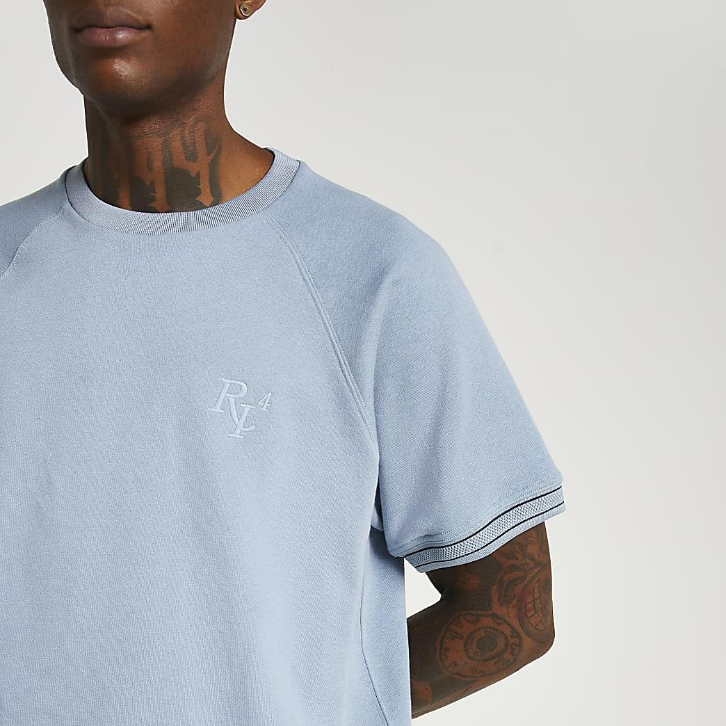 Blue RI short sleeve sweatshirt