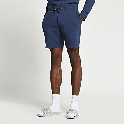Blue RI slim fit elasticated waist shorts