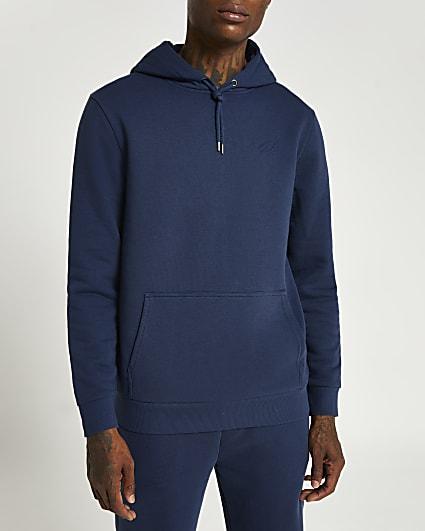 Blue RI slim fit hoodie