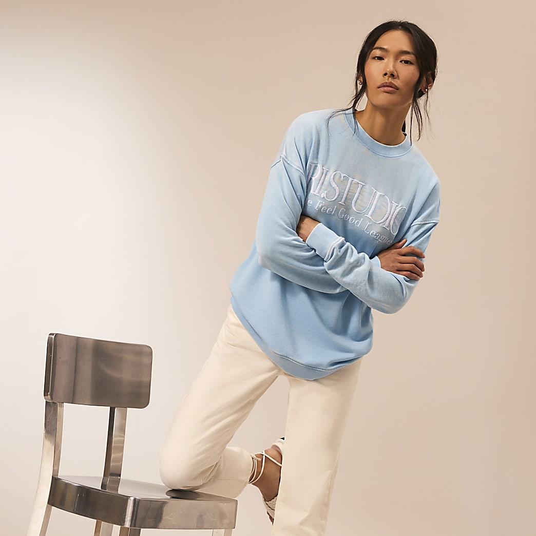 Blue RI Studio long sleeve sweatshirt