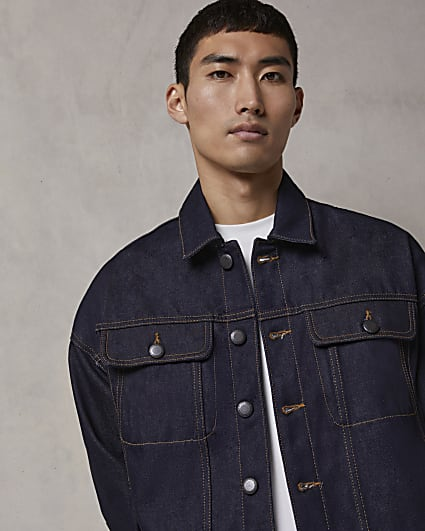 Blue RI Studio oversized fit denim jacket