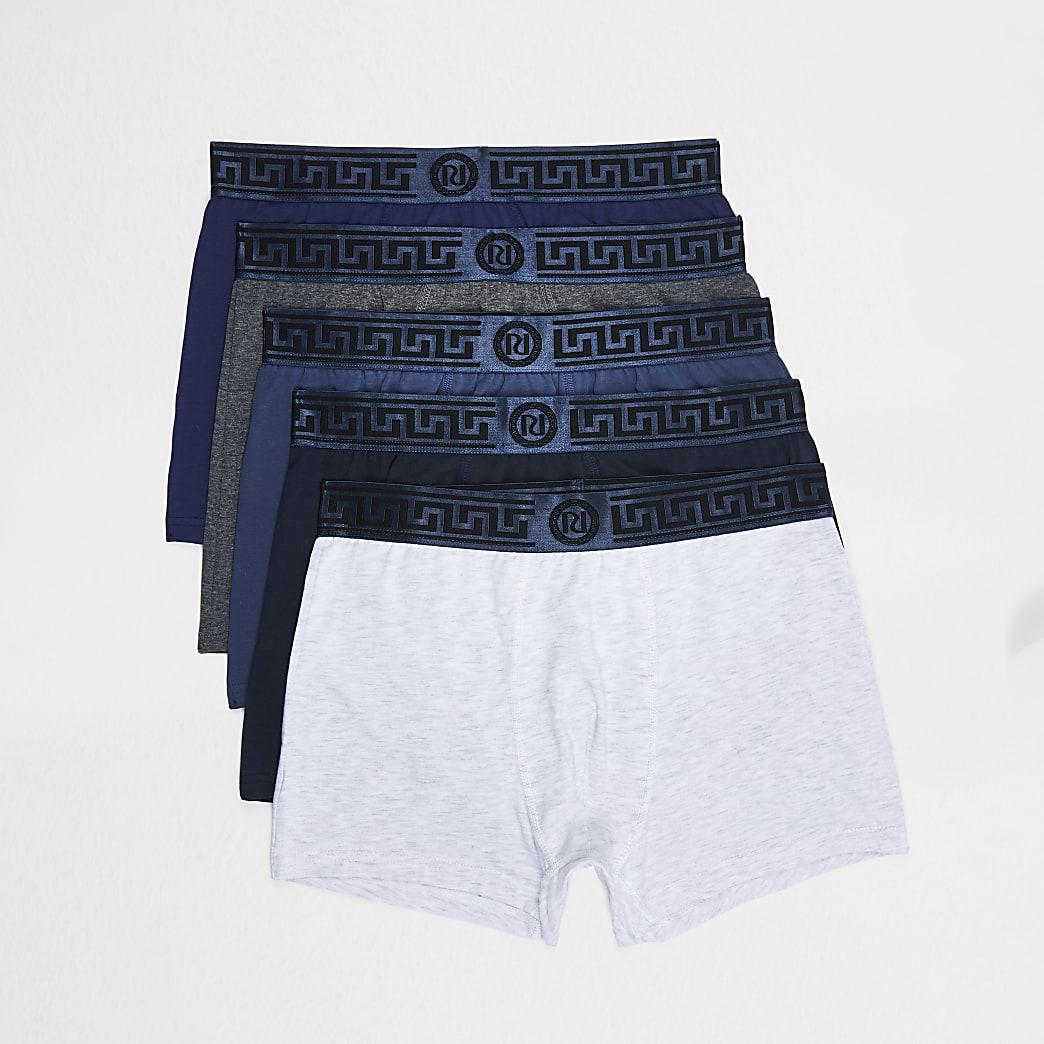 Blue RI waistband trunks 5 pack