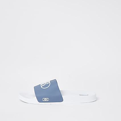 Blue RR embossed sliders