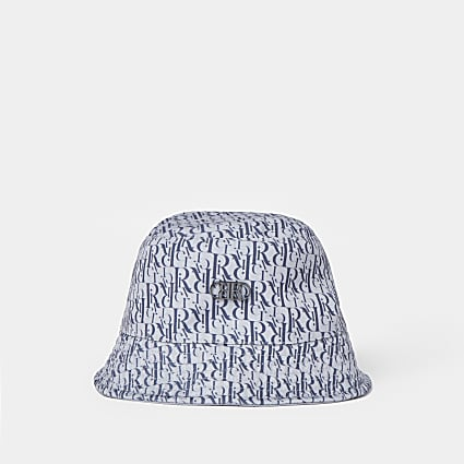 Blue RR jacquard bucket hat