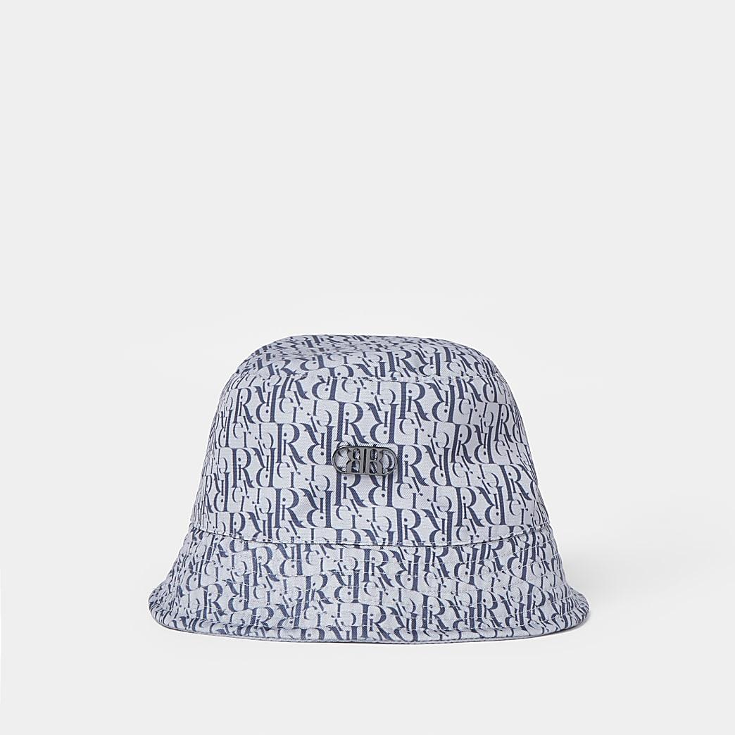 Blue RR jacquard bucket hat