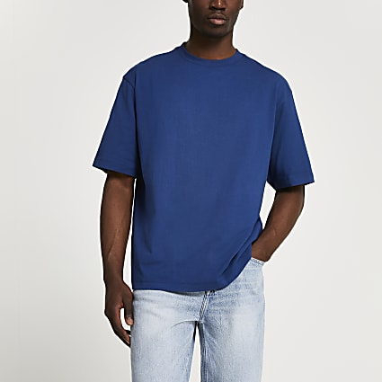 Blue short sleeve oversized t-shirt