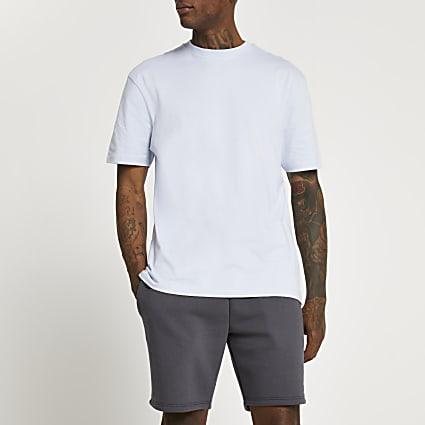 Blue short sleeve regular fit t-shirt