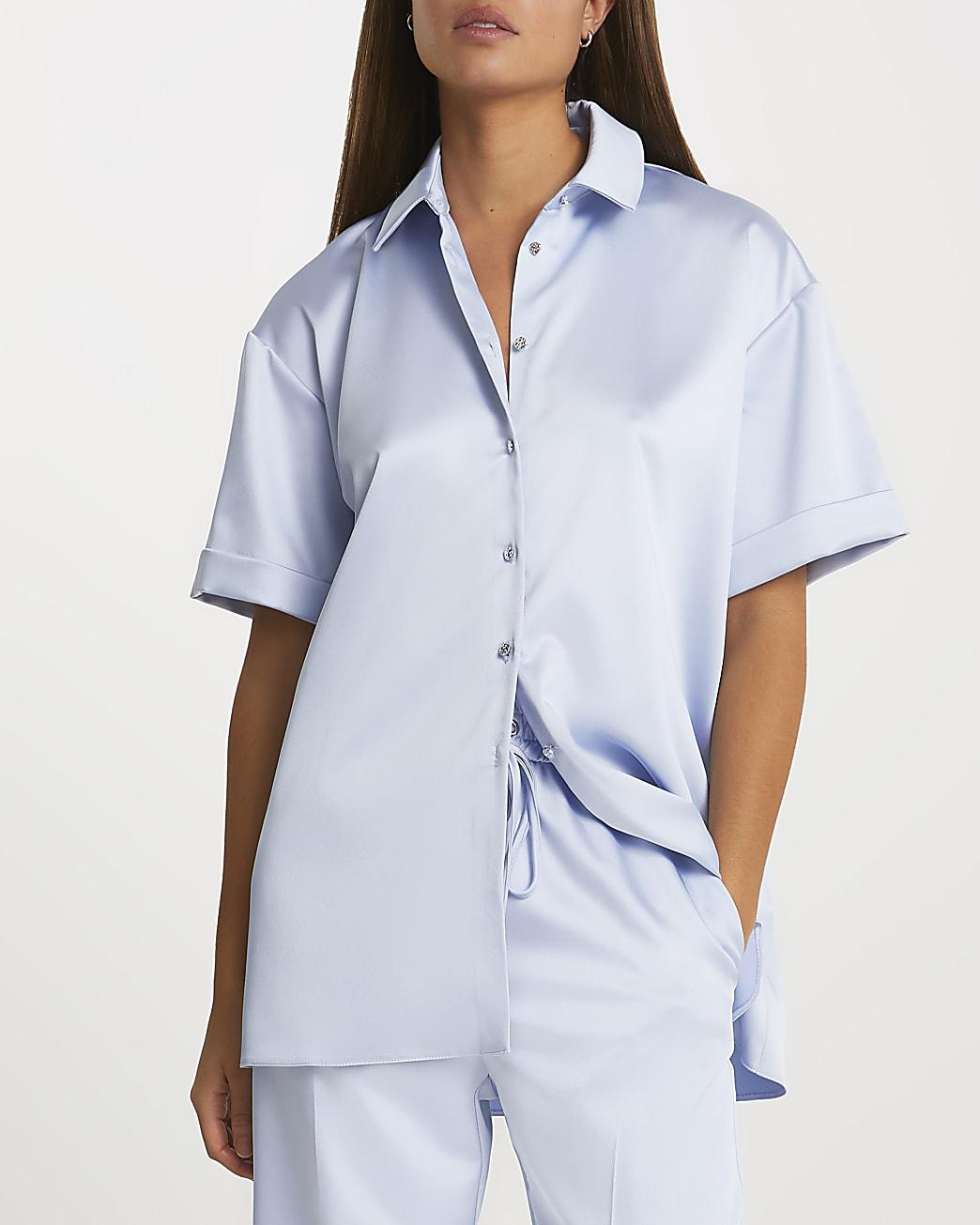 Blue short sleeve shirt