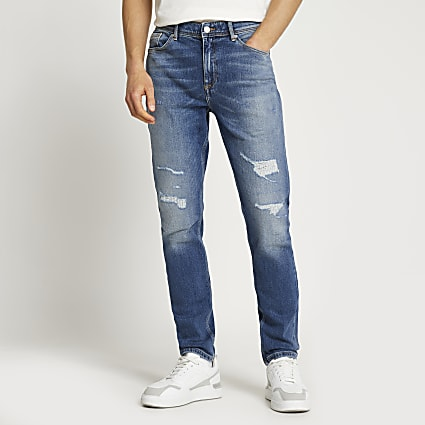 Blue Sid ripped skinny jeans
