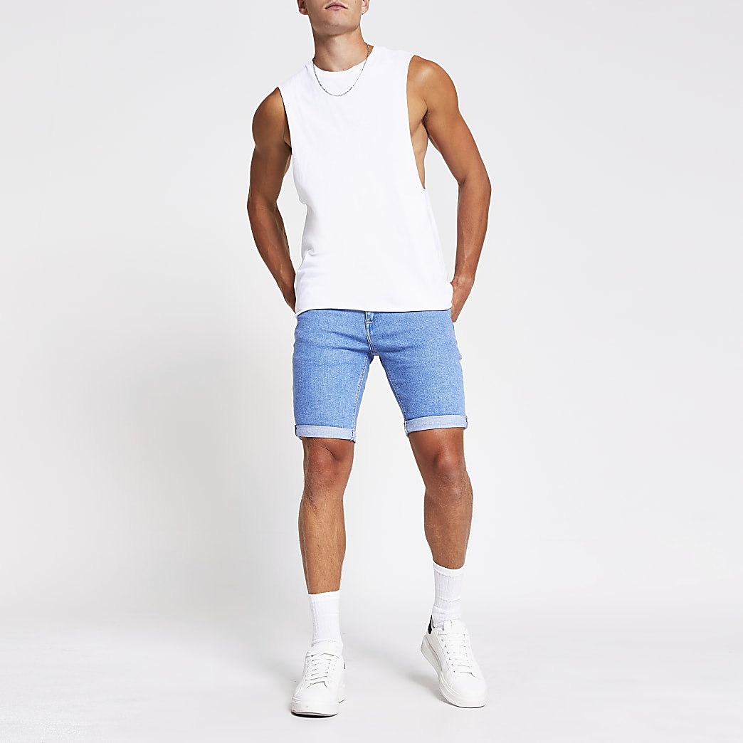 Blue Sid skinny fit denim shorts