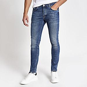 Blauwe skinny-fit Sid jeans