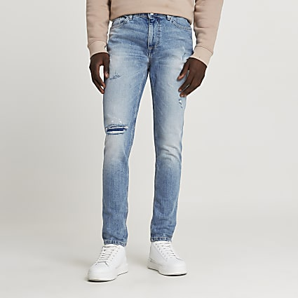 Blue Sid skinny ripped jeans