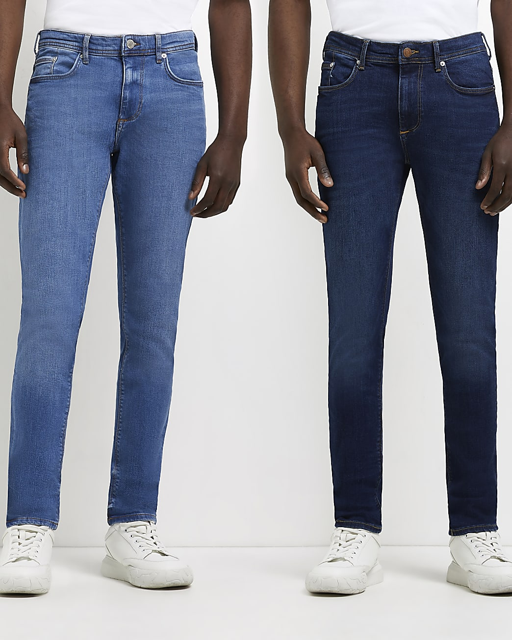 Blue skinny fit jeans multipack