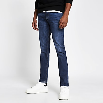 Blue slim fit denim jeans
