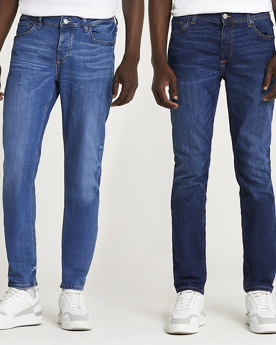 Blue slim fit jeans 2 pack