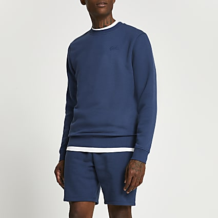 Blue slim fit sweatshirt