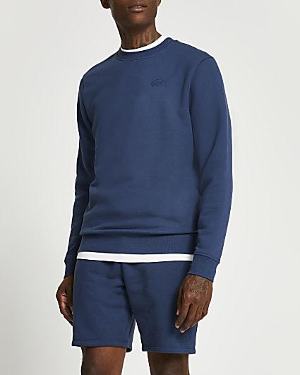 Blue slim fit sweatshirt