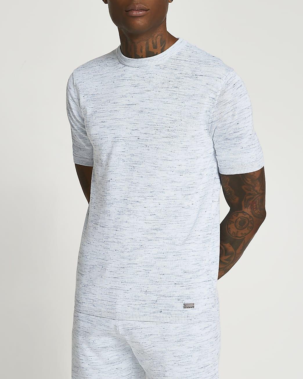 Blue slim fit t-shirt