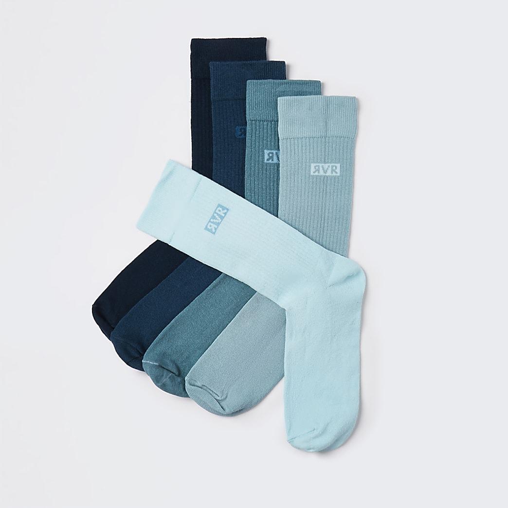 Blue socks 5 pack