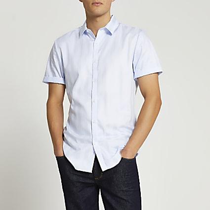 Blue stripe Egyptian cotton slim fit shirt