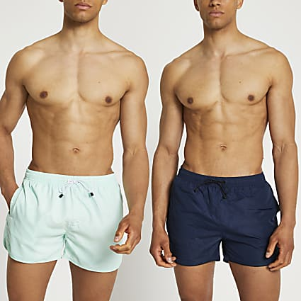 Blue swim shorts 2 pack