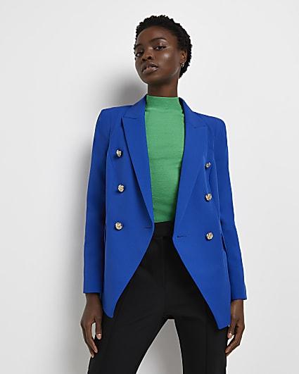 Blue tailored blazer