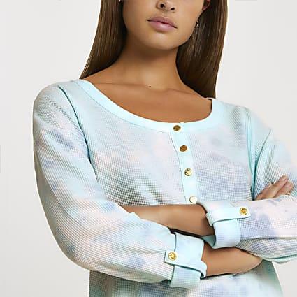 Blue Tie Dye Tshirt