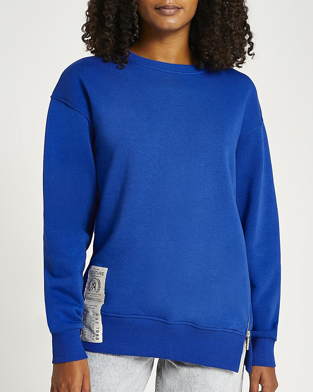 Blue zip sweatshirt