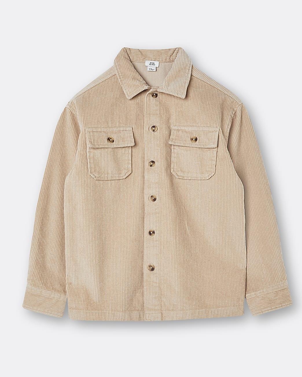 Boys beige corduroy shirt