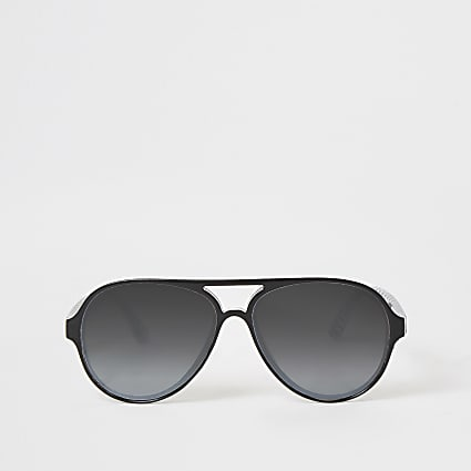 Boys black aviator sunglasses