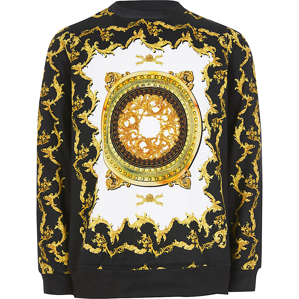 Boys black baroque sweatshirt