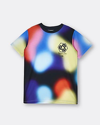 Boys black blurred lights t-shirt