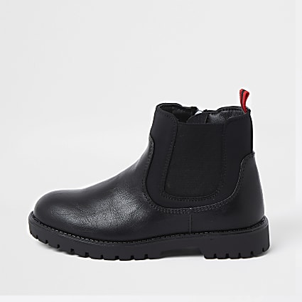 Boys black chelsea boot