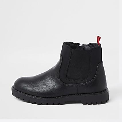 Boys black chelsea boot