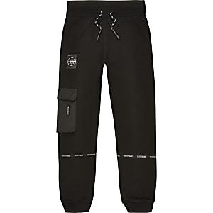 Pantalon de jogging utilitaire noir ave bande « Concept » pour garçon