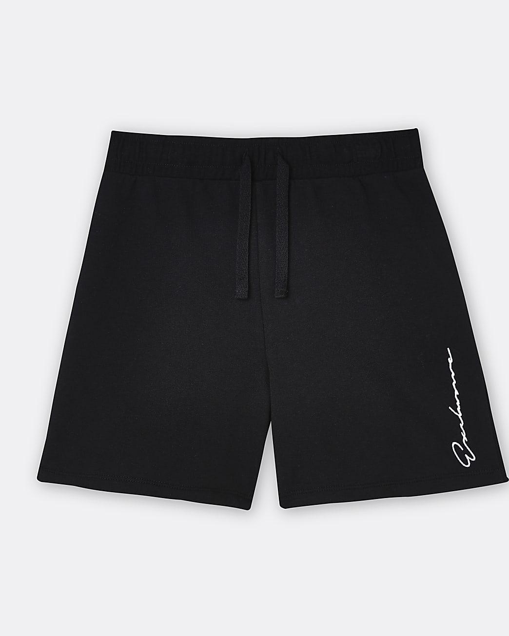 Boys black 'Exclusive' shorts