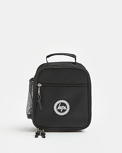 Boys black Hype branded lunchbox bag