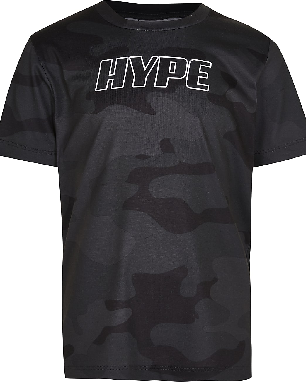 Boys black Hype camo t-shirt