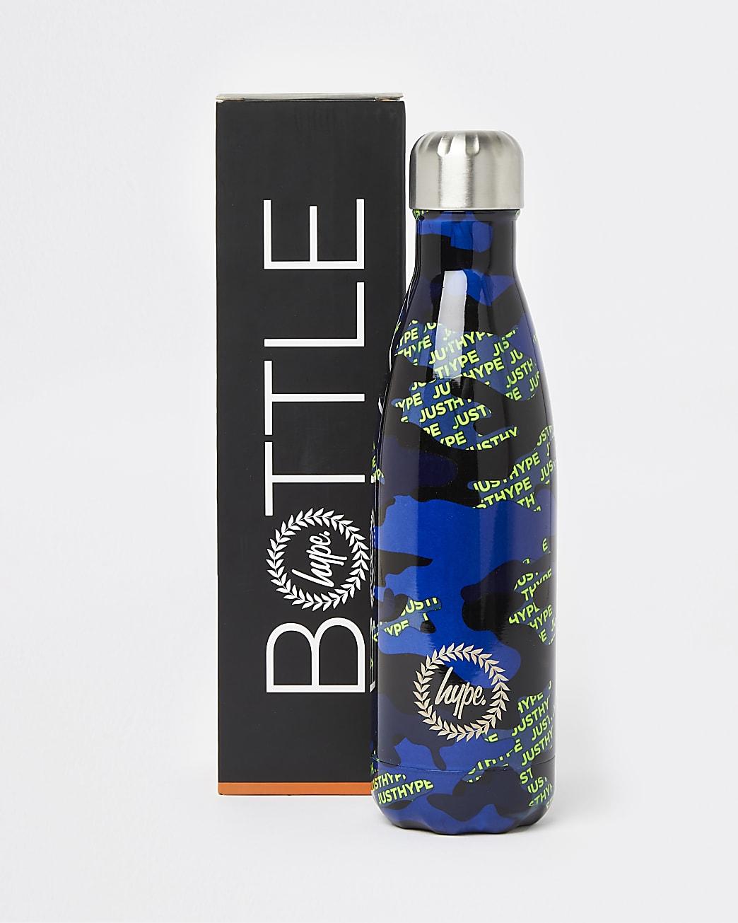 Boys black Hype neon water bottle