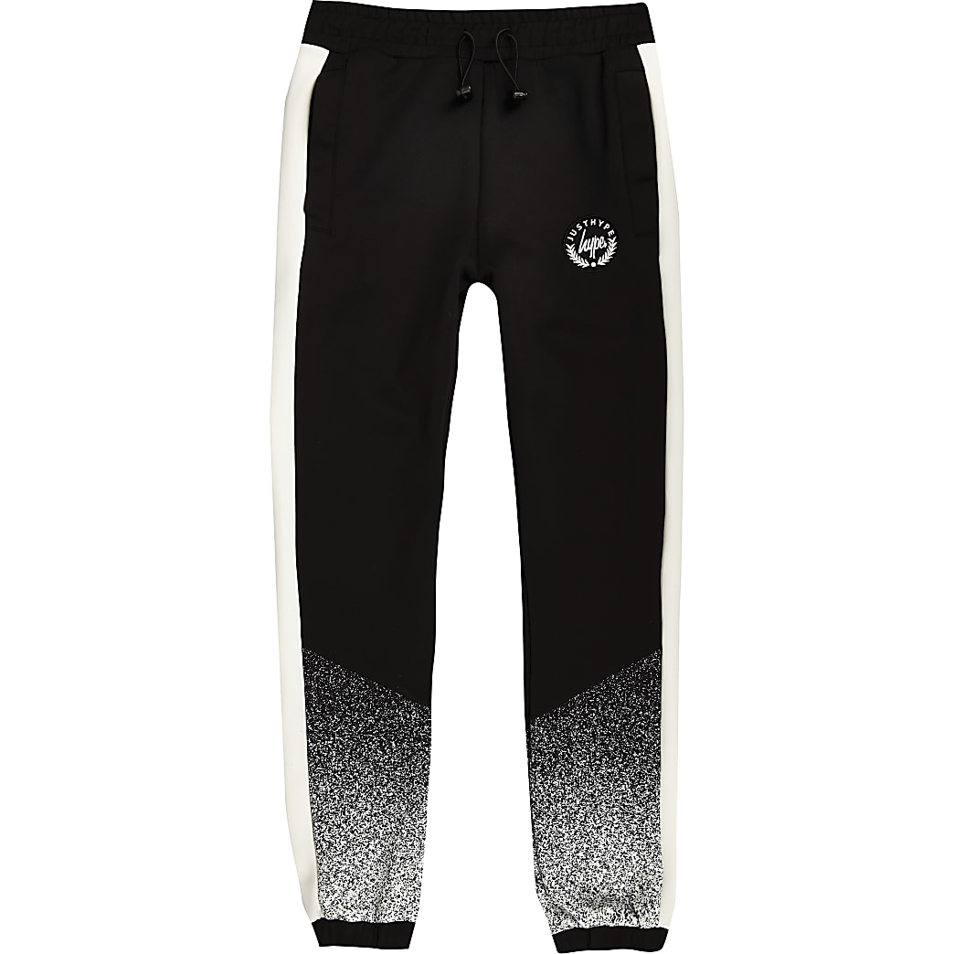 Hype Black AOP Speckle Kids Joggers