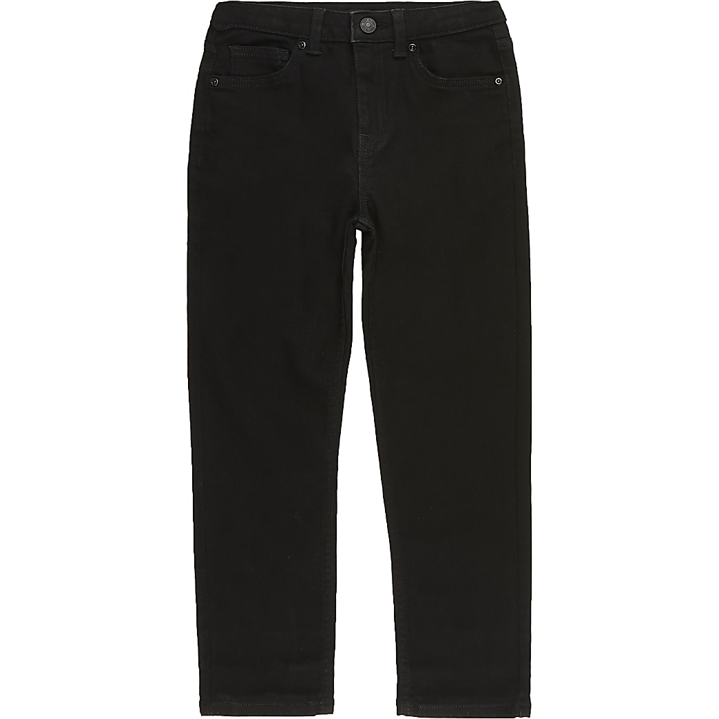 Boys black Jake regular fit jeans