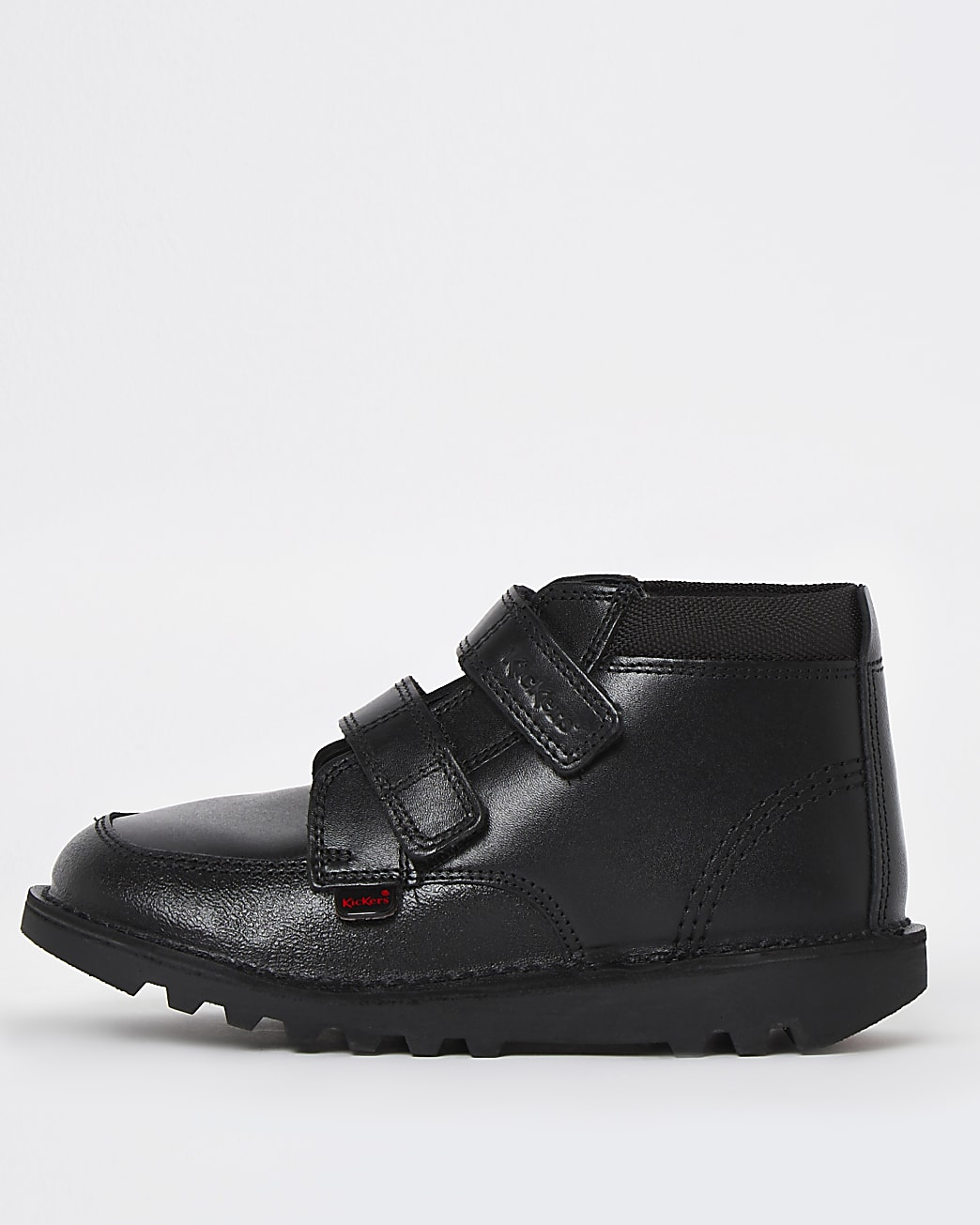 Boys black Kickers leather shoes